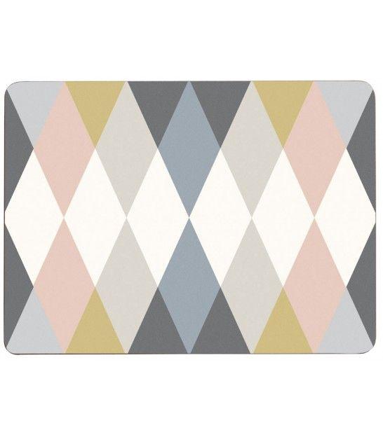 set de table design en lige stratifi multicolore arlequin set de 4 - Set De Table Scandinave