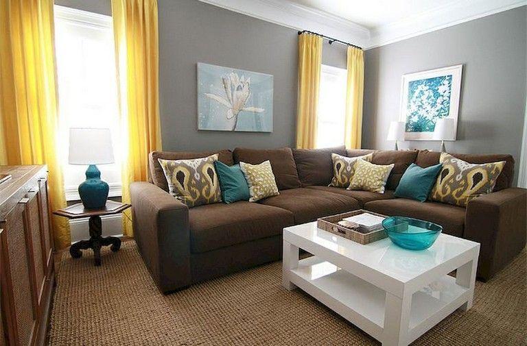 77 Comfy Apartment Living Room Decorating Ideas Livingroomideas Livingroomdecor Living Living Room Turquoise Brown Living Room Decor Teal Living Room Decor
