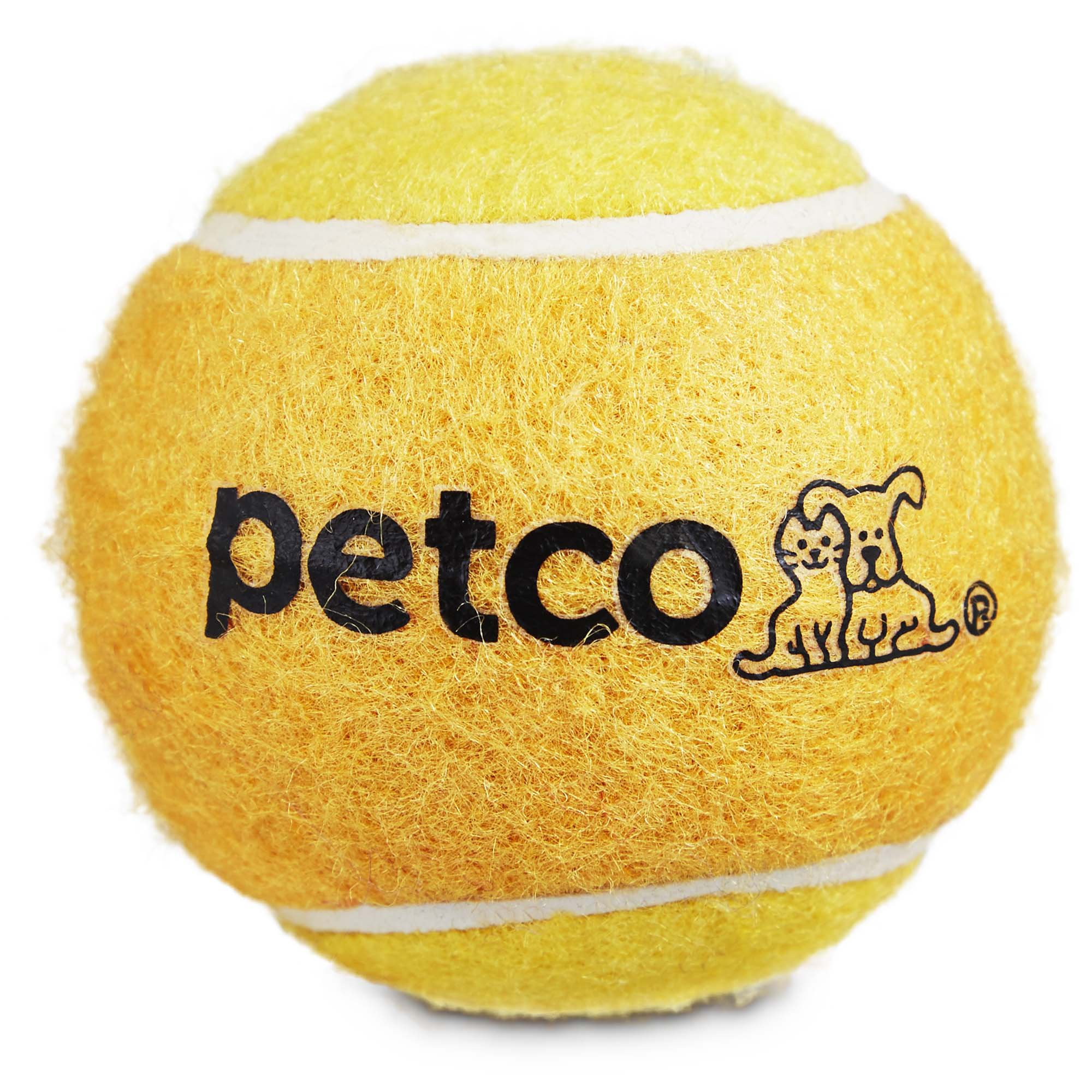 Tennis Ball Dog Toy In Yellow 2 5 Dog Toys Dogs Pet Supplies