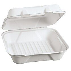 Genpak Harvest Fiber Hinged Food Containers 9 H X 9 W X 3 D