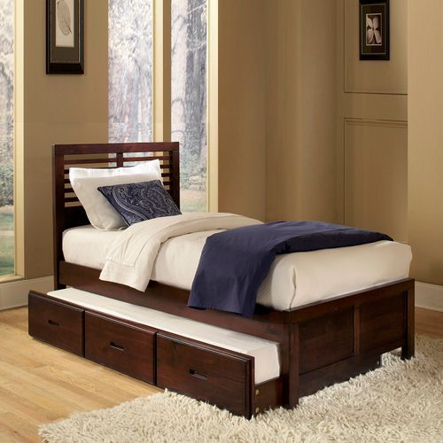 Oxford Creek Full Size Pull Out Trundle Bed Functionality From