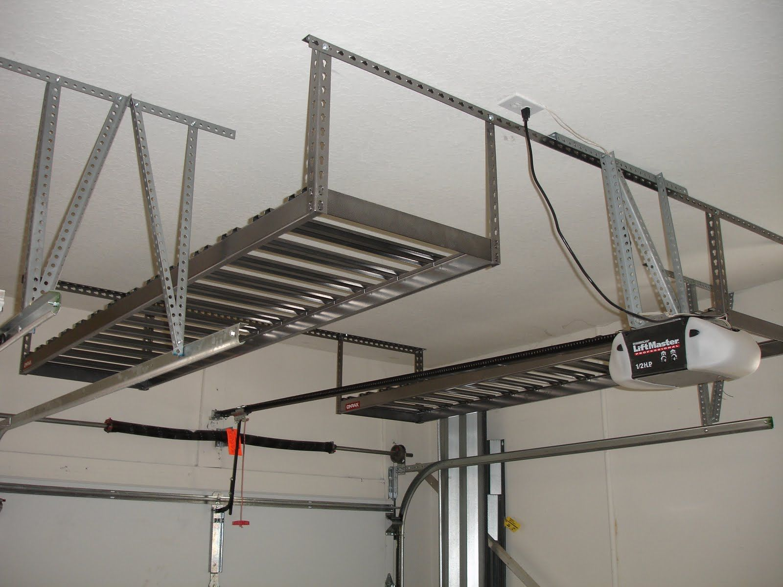 images about ceiling overhead storage ideas on pinterest bike storage storage ideas