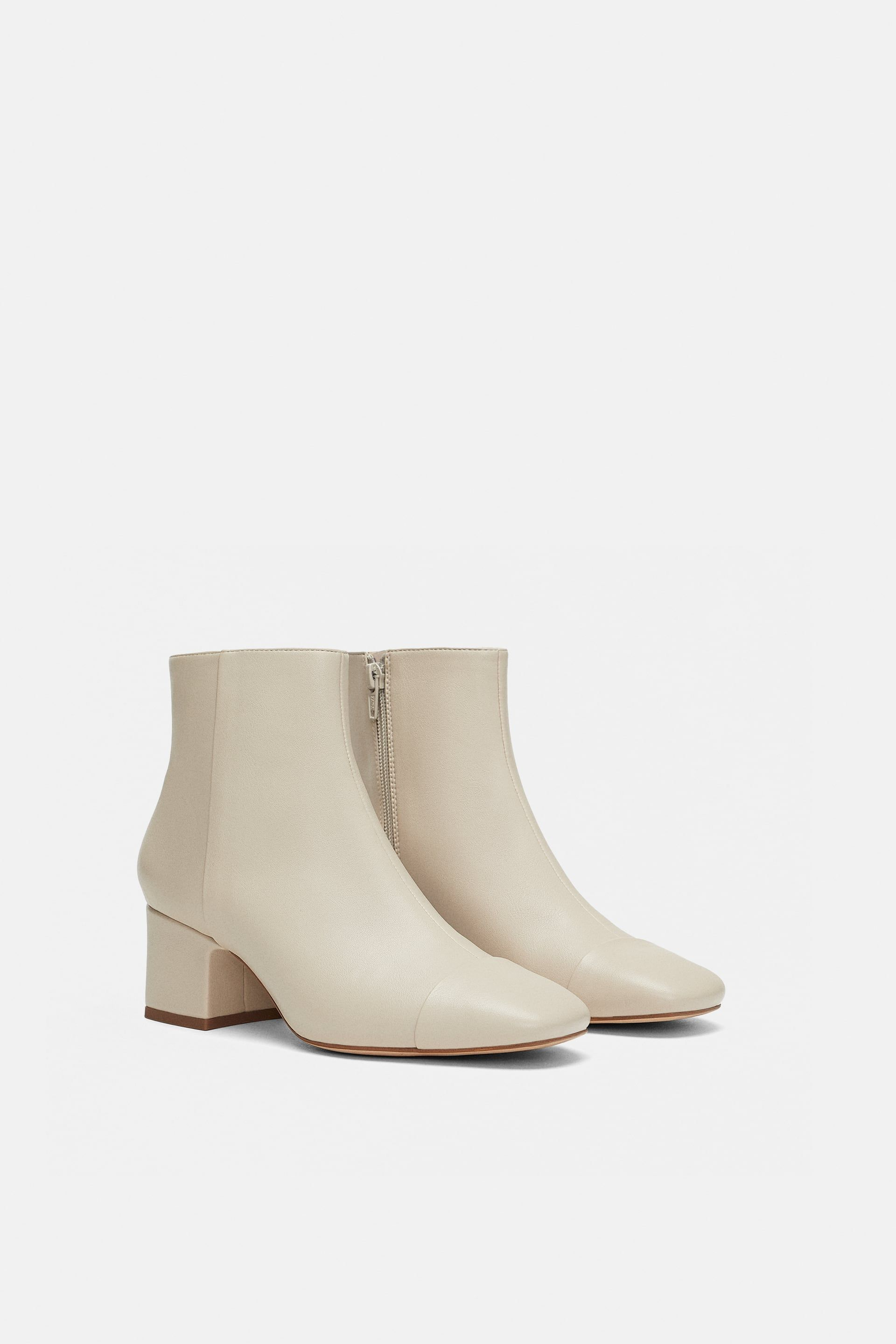 b510abb3764 ZARA - WOMAN - HEELED ANKLE BOOTS WITH TOE DETAIL