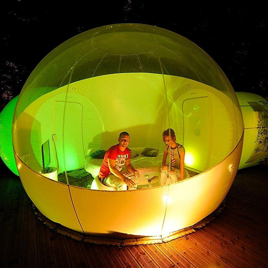Inflatable Bubble Tent with Two Privacy Tunnels & Inflatable Bubble Tent with Two Privacy Tunnels | Bubble tent and ...