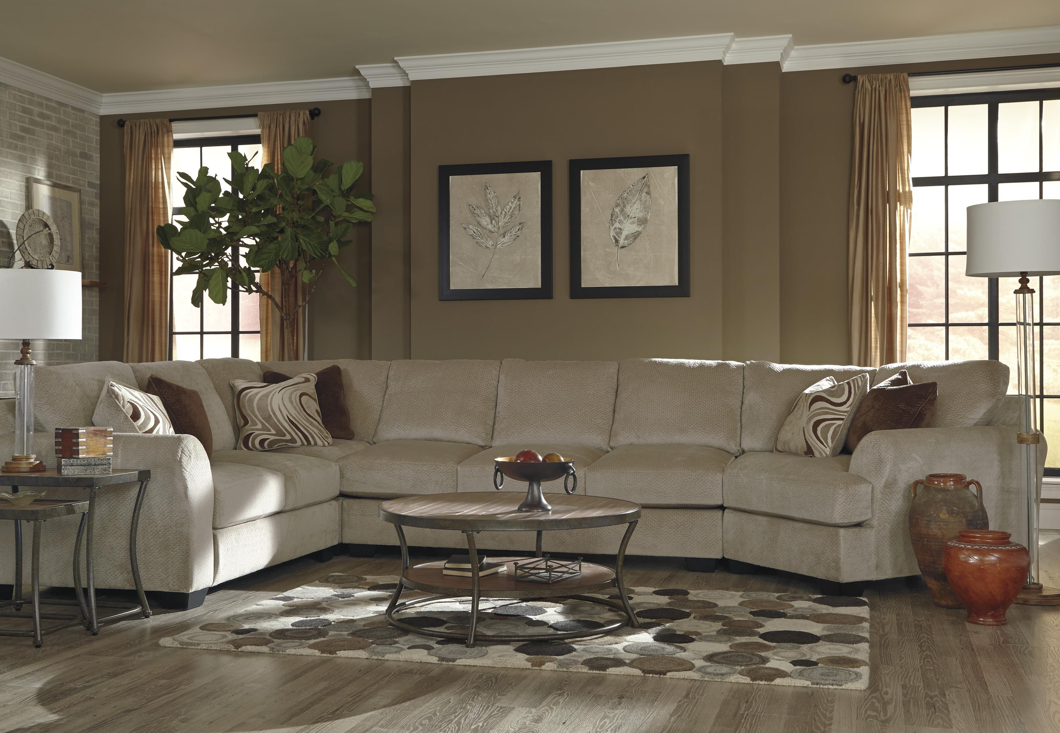 Pleasing Hazes 4 Piece Sectional W Armless Sofa Furniture Couch Bralicious Painted Fabric Chair Ideas Braliciousco