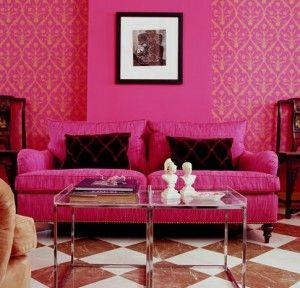Velvet Pink Punch Pink Living Room Asian Home Decor Home Decor
