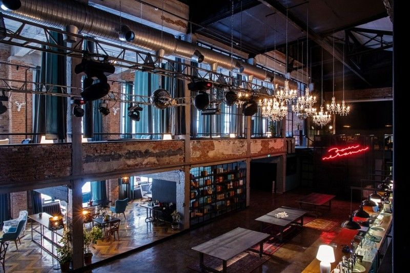 Raw Industrial Design: Printing House Night Club In Russia