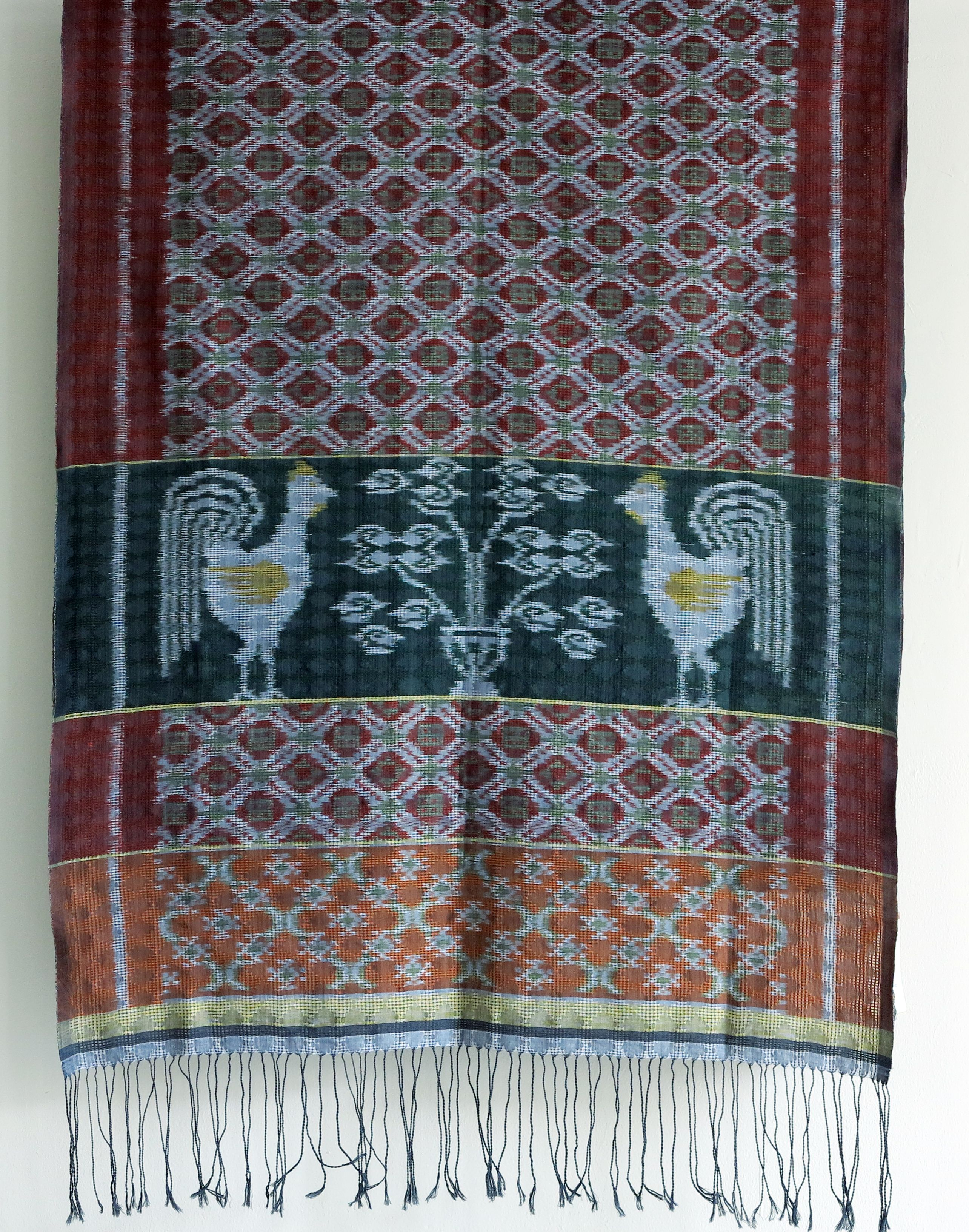 Shoulder Cloth From Sumba Mid Indonesia In Faunal Design The Rooster Pattern