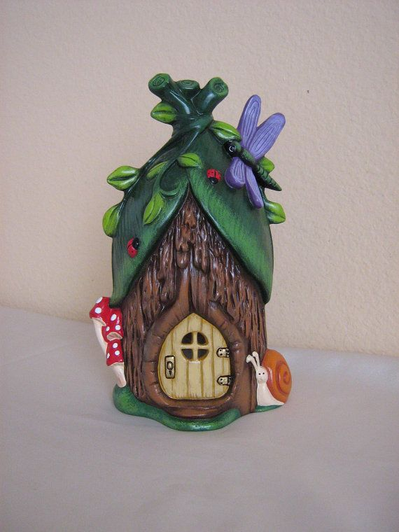 Ceramic Fairy House By Hpceramics On Etsy Clay Houses