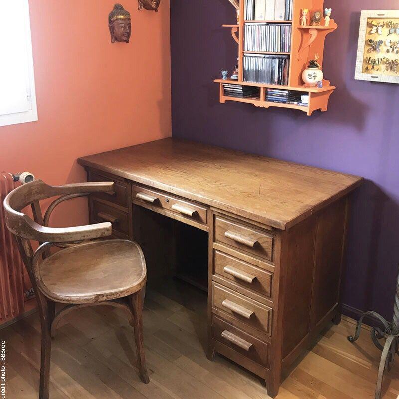 Bureau Vintage Maitre D Ecole Capharnaum Net En 2020 Bureau Vintage Bureau Grand Bureau