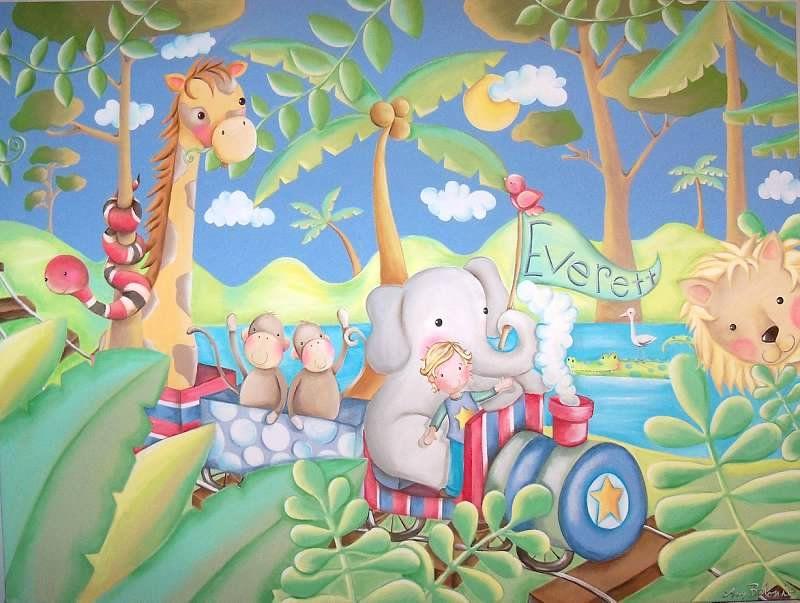 custom nursery paintings