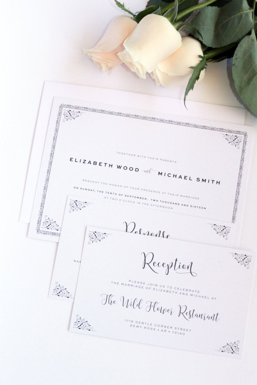 Printable or Printed - Your Choice, Classy Wedding Invitation ...