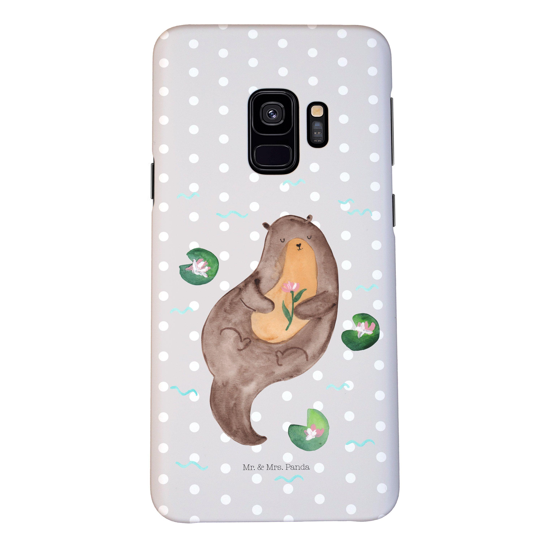 Samsung Galaxy S9 Handyhülle Otter mit Seerose