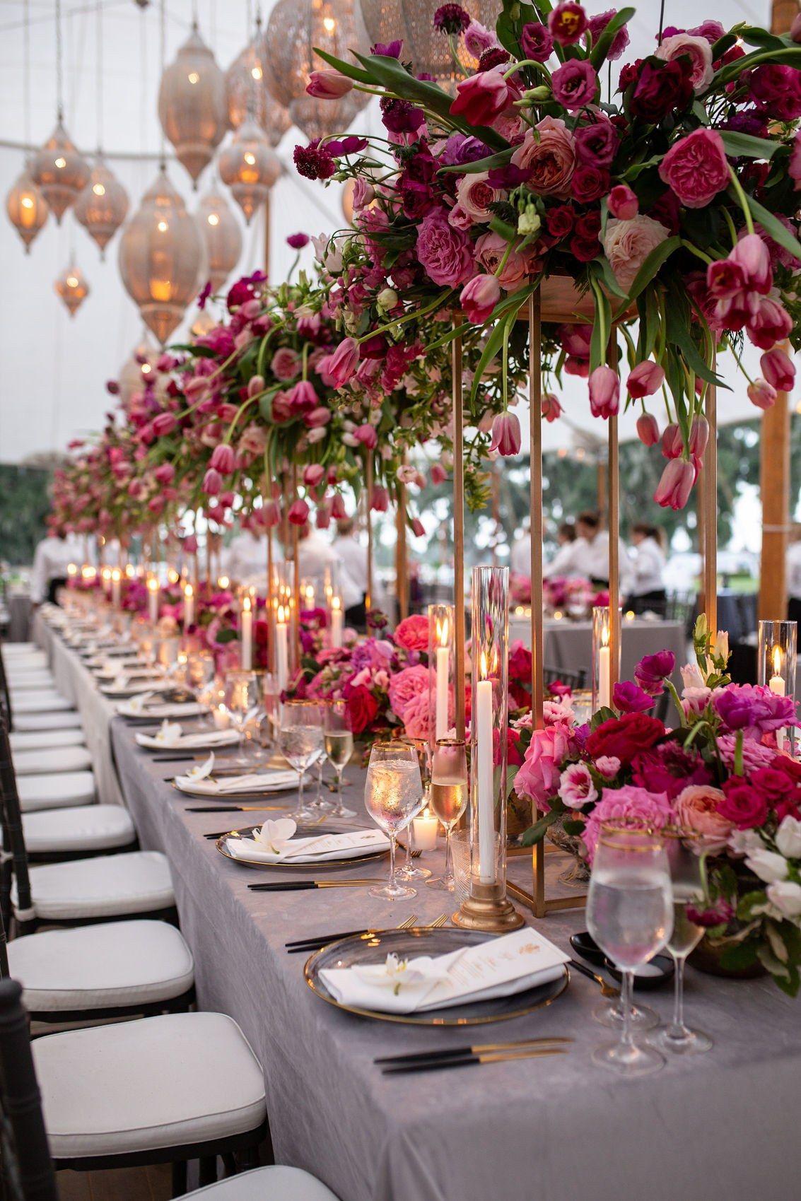 The Best Wedding Planners in America | Brides | Elegant wedding  centerpiece, Wedding reception tables, Cheap wedding table centerpieces