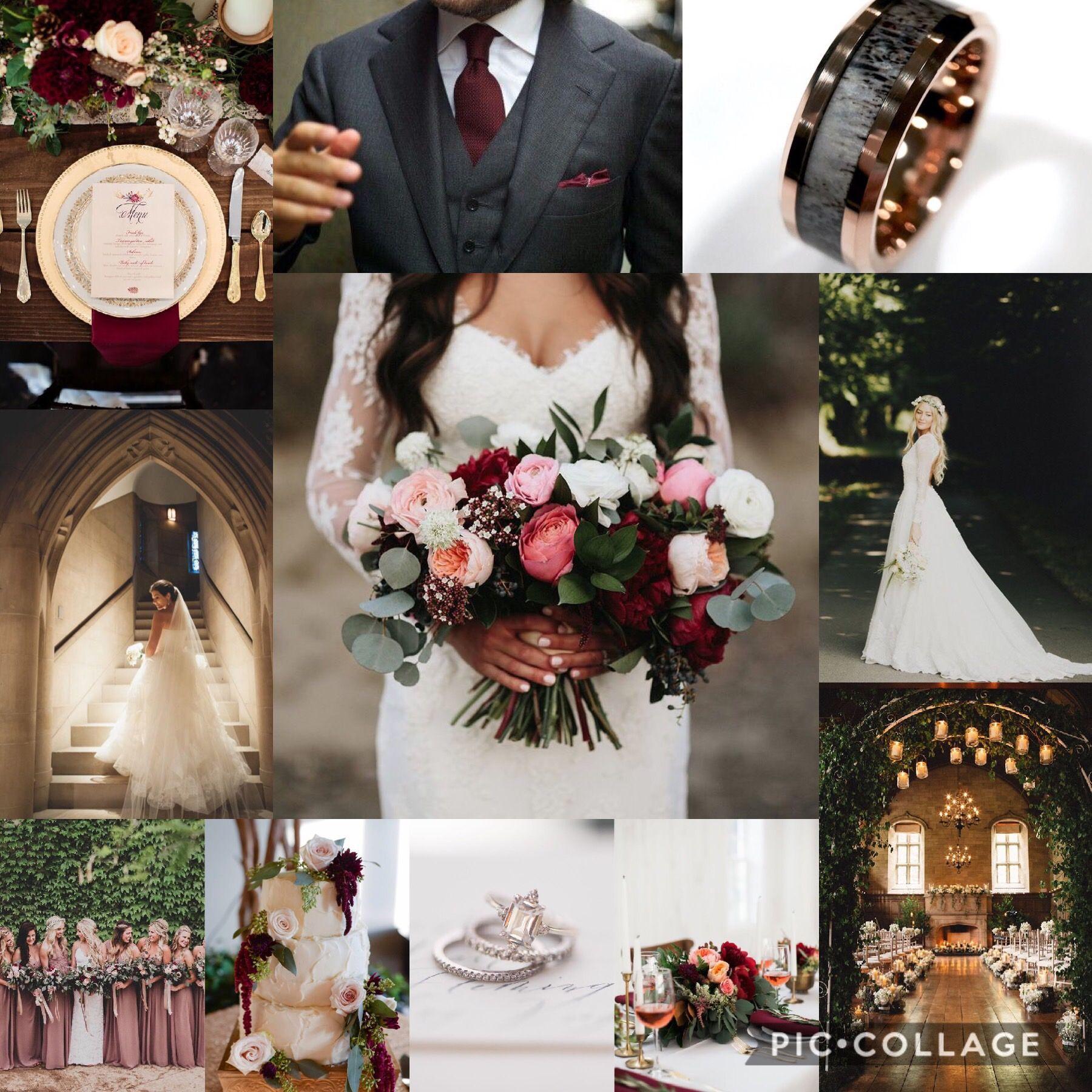 Maroon Marsala And Dusty Rose Wedding Dusty Rose Wedding Colors August Wedding Colors Rose Wedding Theme