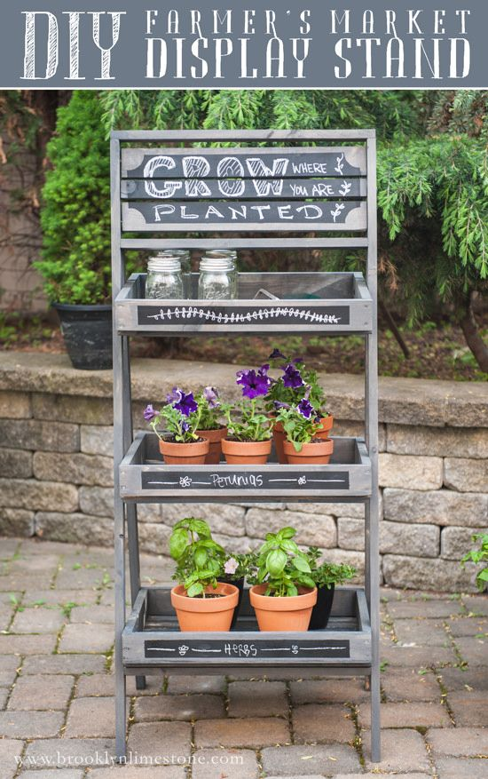 DIY Farmers Market Display Stand + Home Depot Giveaway - Adventures in Renovating a Brooklyn Limestone