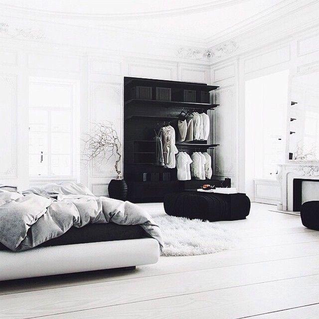 Amazing Space Chambre Bedroom Noir Blanc Bedroom Interior
