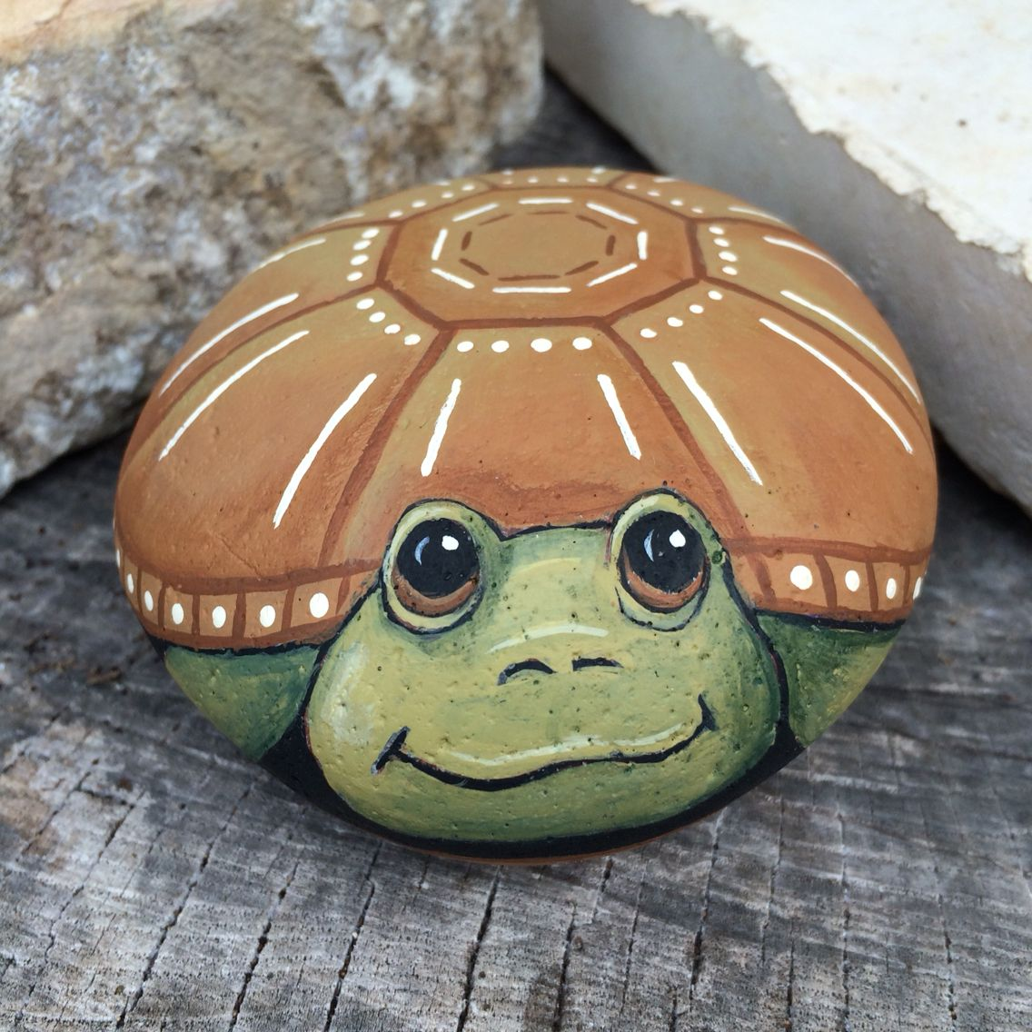 paint a turtle on a rock for your patio these can be any color