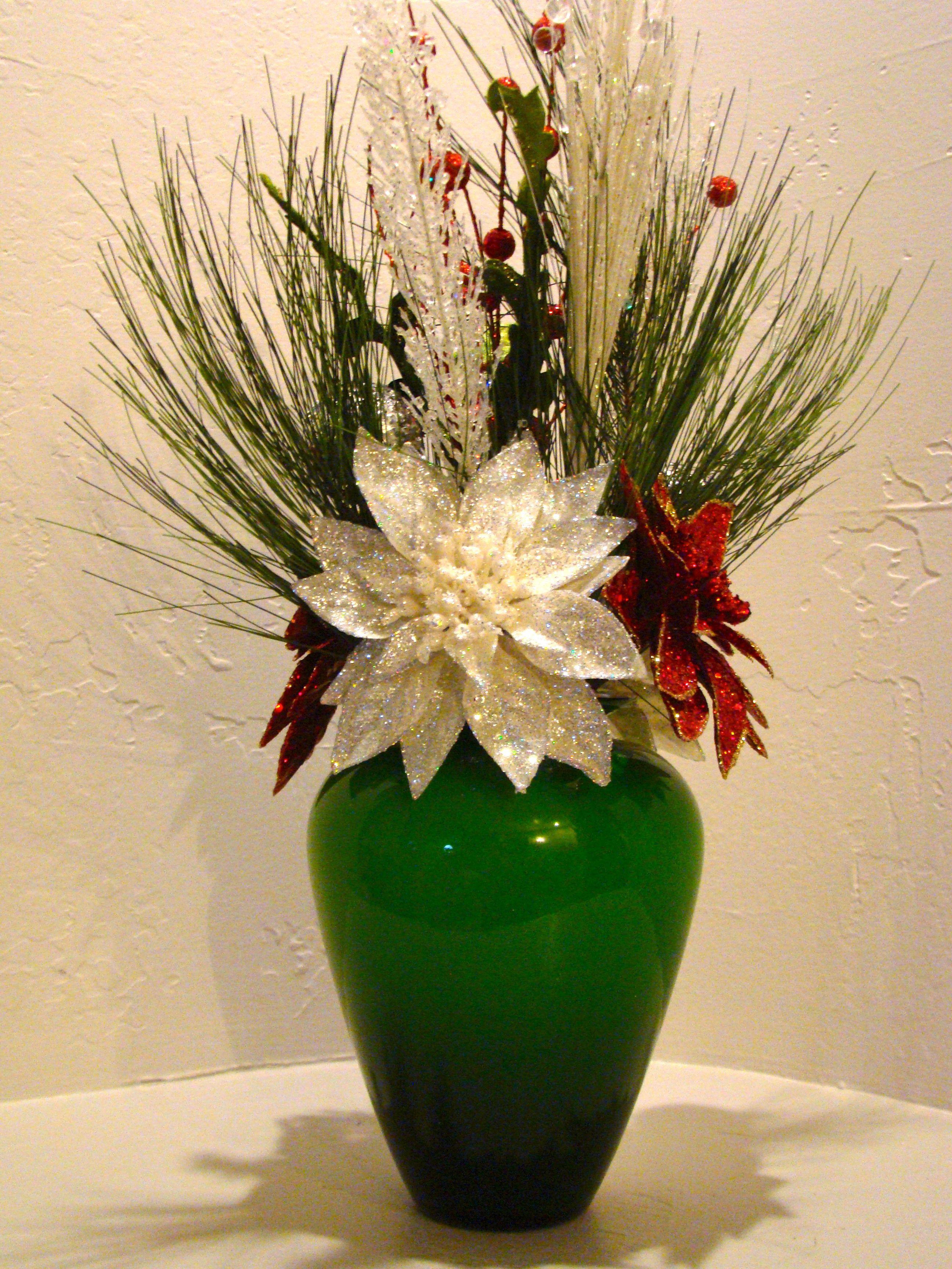 CHRISTMAS SILK FLORAL ARRANGEMENT 3003 Christmas floral