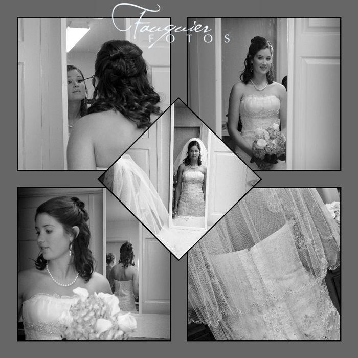 Fauquier Fotos | Warrenton, VA | Posts, bridal portraits, getting ready, black & white, wedding, photography