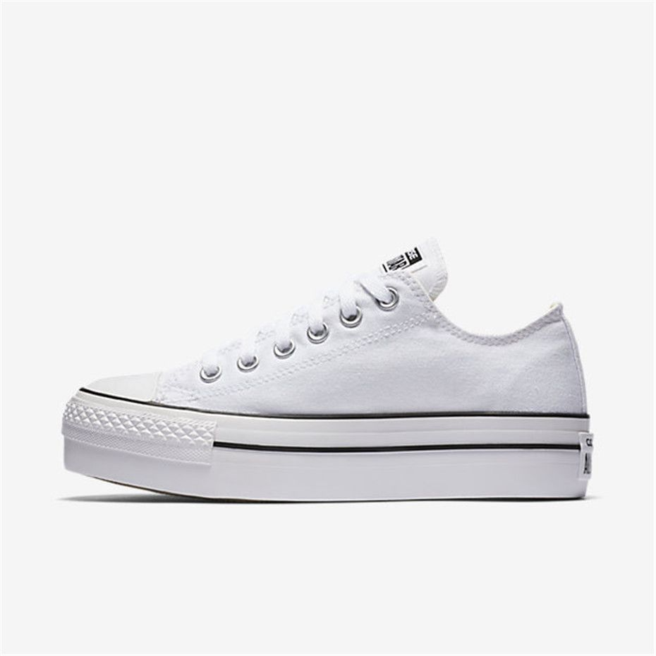 a33eba2fdcd6 NIKE Converse Chuck Taylor All Star Platform Low Top (White ...