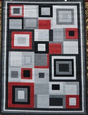 Gray Black Red Large 5x7 Modern Contemporary Abstract Area Rug Carpet 9332 Carpet Cleaning Hacks How To Clean Carpet Rugs On Carpet
