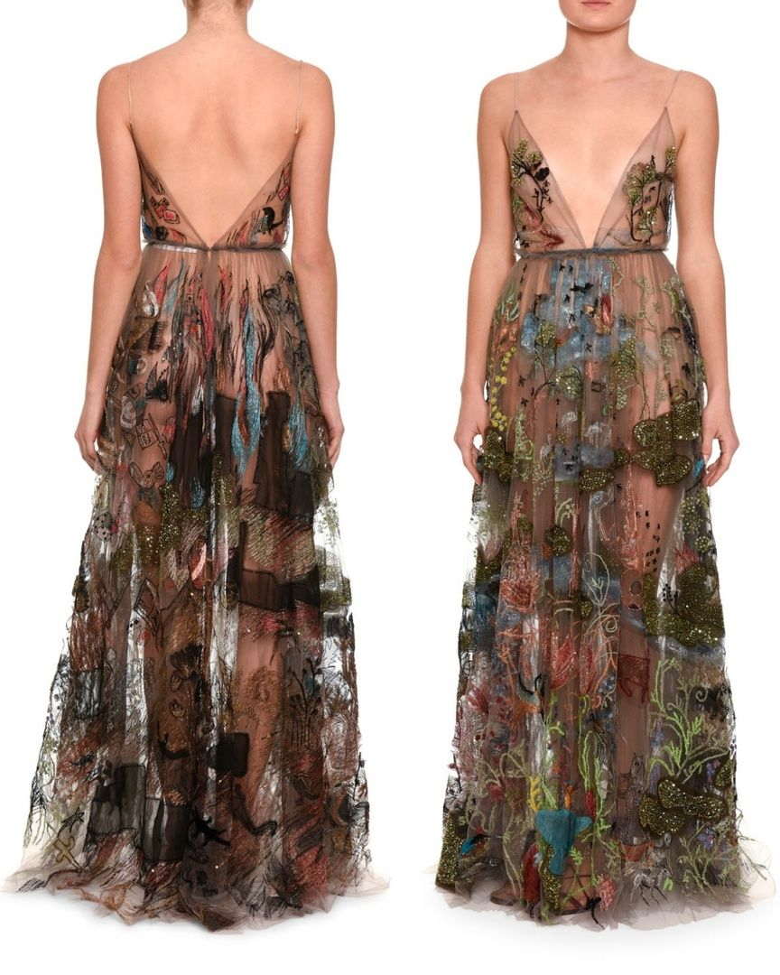 Here Comes Eve Straight From Eden X27 S Garden Valentino Beaded And Embroidered Sheer Tulle Gown From The Garden Of Earthly D Fashion Dresses Fancy Dresses [ 1080 x 864 Pixel ]