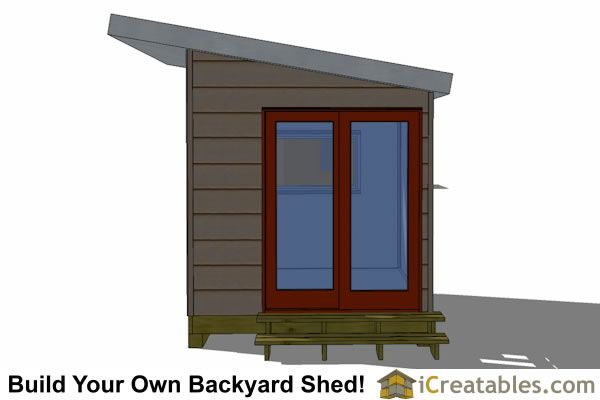8x10 Studio Shed Plans With Double Door On Side