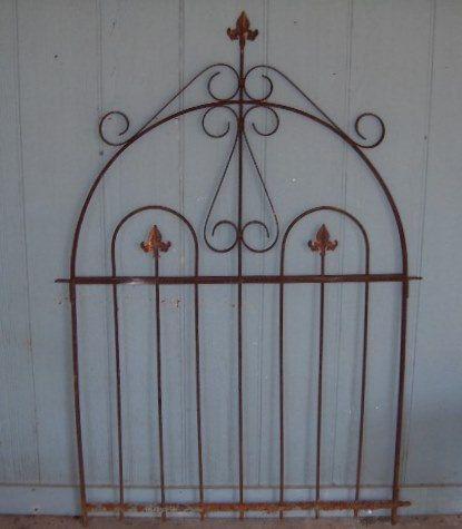 Antique Victorian Iron Garden Gate... This Can Be Integrated Into A Garden,