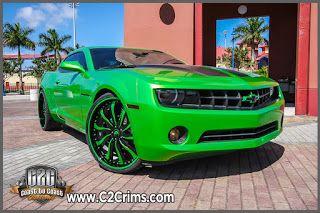 C2c Rims Synergy Green Camaro On Forgiato Infernos