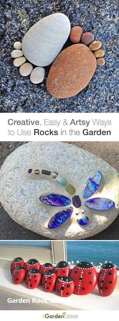 New DIY Garden Rock Ideas #steingartenideen