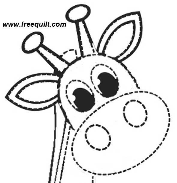 Giraffe Pattern from FreeQuilt.com - 2 Sizes of Applique Giraffes #giraffepattern