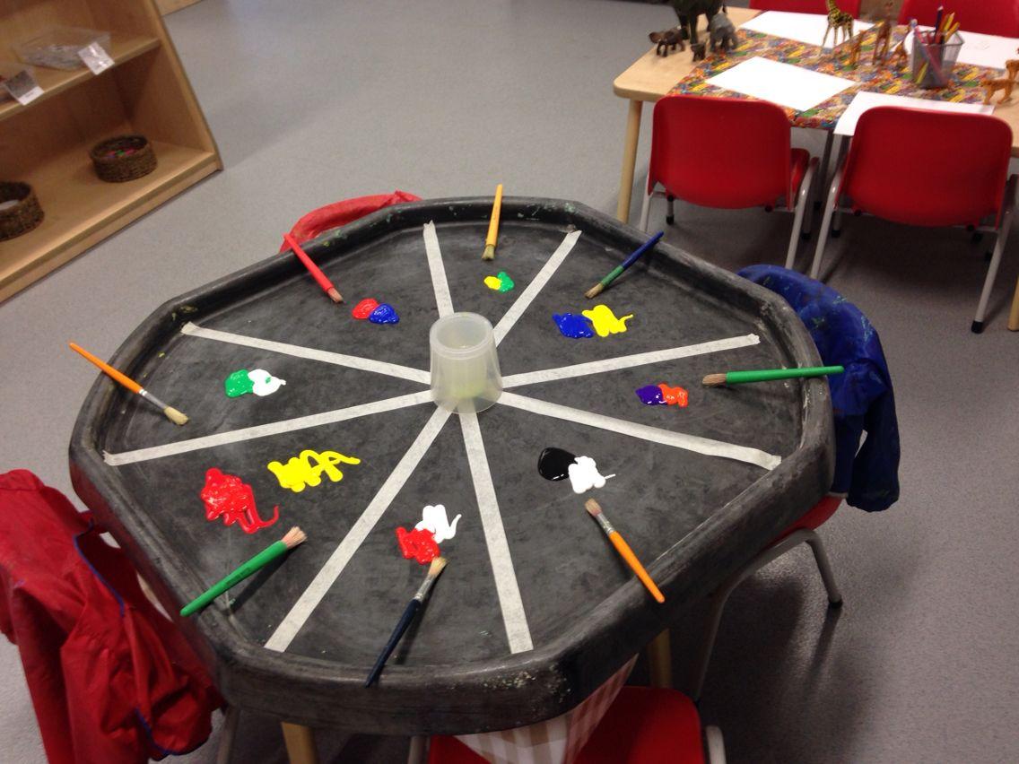 colour mixing activities eyfs : Colour Mixing Exploration