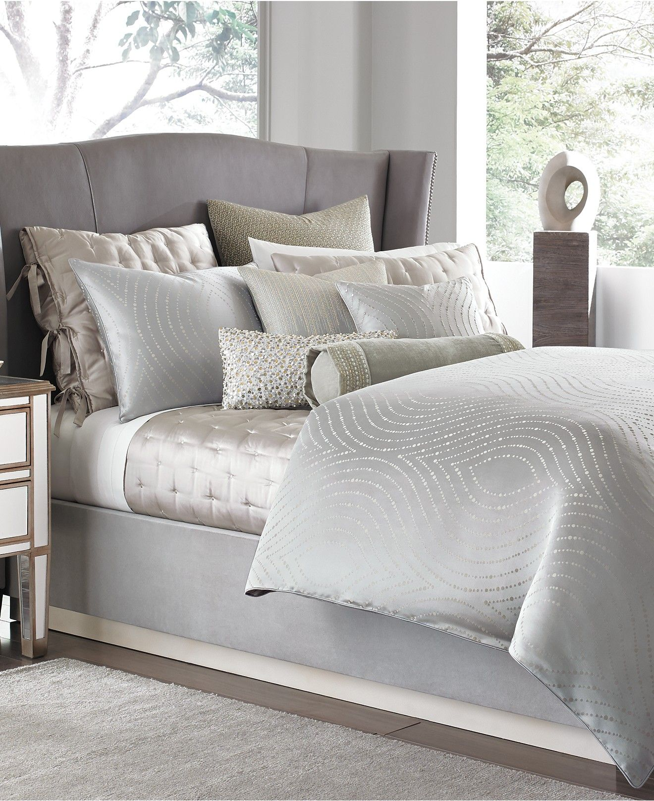 Hotel Collection Finest Silver Leaf Bedding Collection Only At
