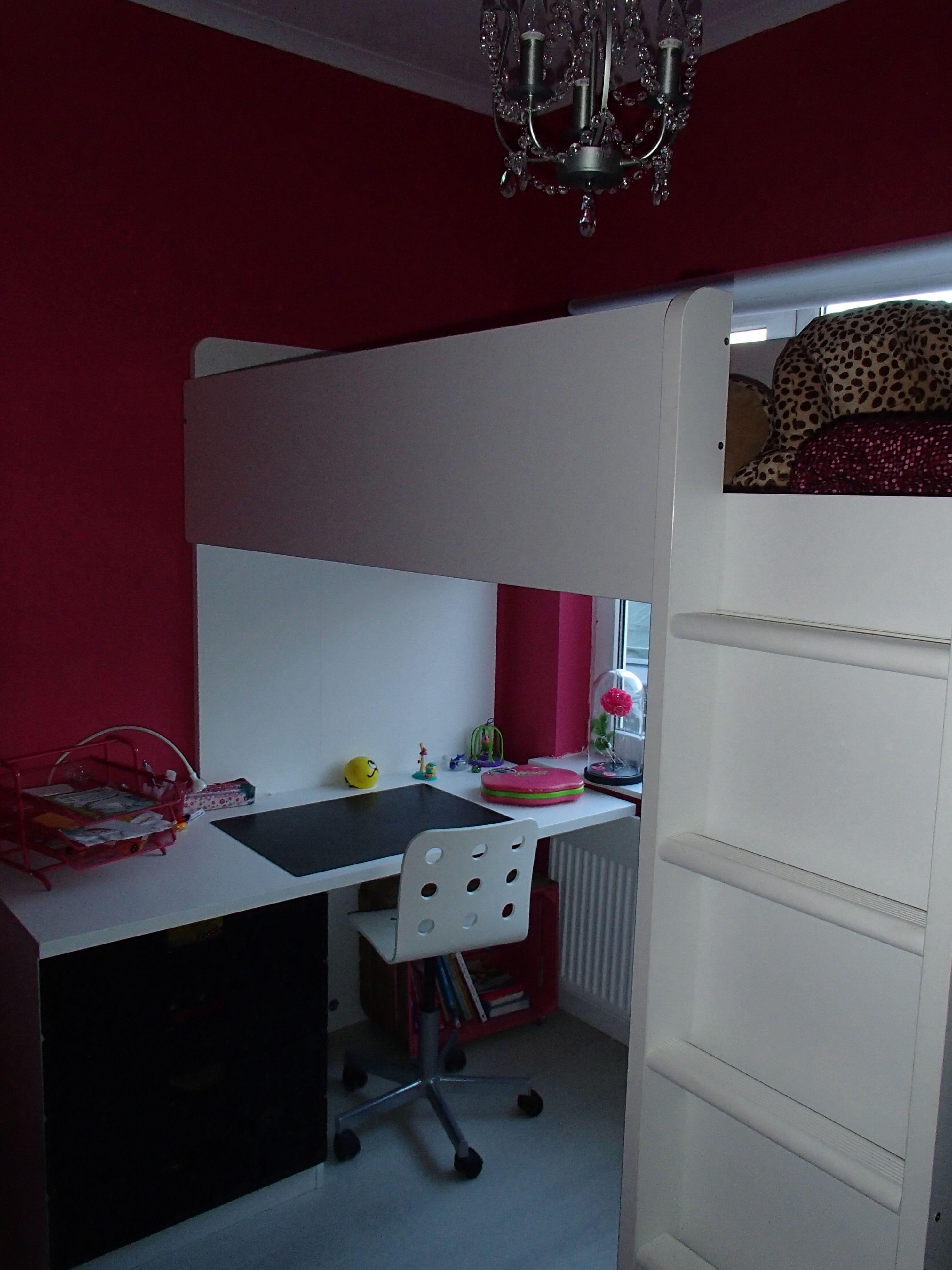 Meisjes kamer stoer 7 rozen meiden kamer ikea hoogslaper met bureau verhuis kamer janne - Tiener meisje mezzanine slaapkamer ...