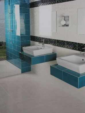 idée décoration salle de bain carrelage bleu | Salle de bains ...