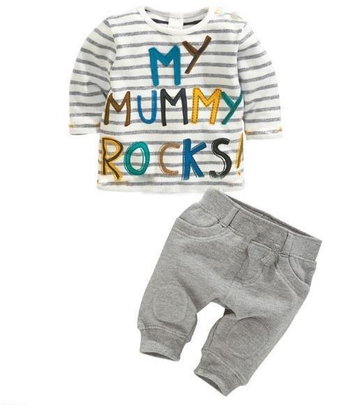 Hot Sale 2015 New Summer Boys Clothes Set Kids Striped