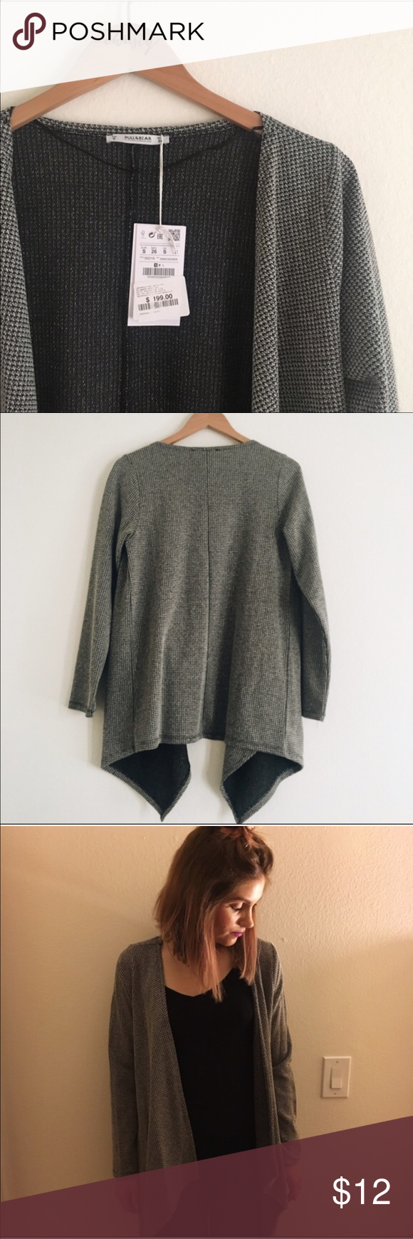 Pull Bear Cardigan Brand New From Mexico 39 Cotton 2 Viscose Lightweight No Closure Grey Wrap Pull Bear S Clothes Design Shrug Sweater Fashion Design