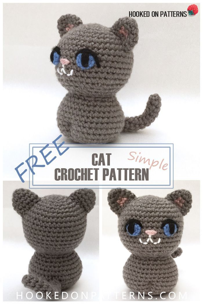 Simple Free Crochet Cat Pattern | Pinterest | Ganchillo