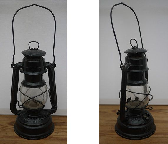 Lamp Kerosene In Iron Storm German Mark Superflam Old Lantern