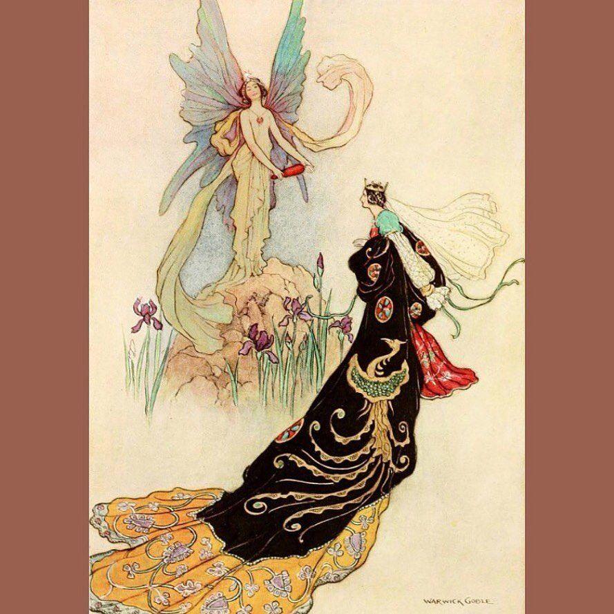4 327 Likes 7 Comments Vintage Illustration Gallery Vintageillustrationgallery On Instagram Lizziemontgomerydesign Wa Fairy Book Warwick Goble Art