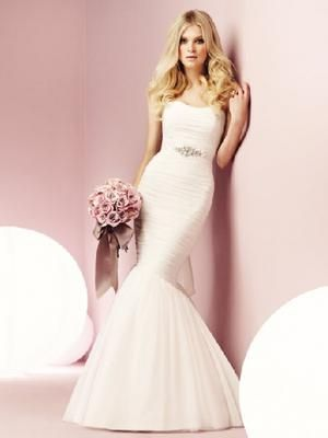 Get killer curves in this Mikaelle 1551 wedding dress