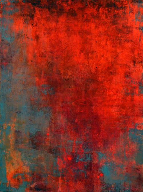 Peinture abstraite par Ana Elisa Benavent #painting #abstract #rust