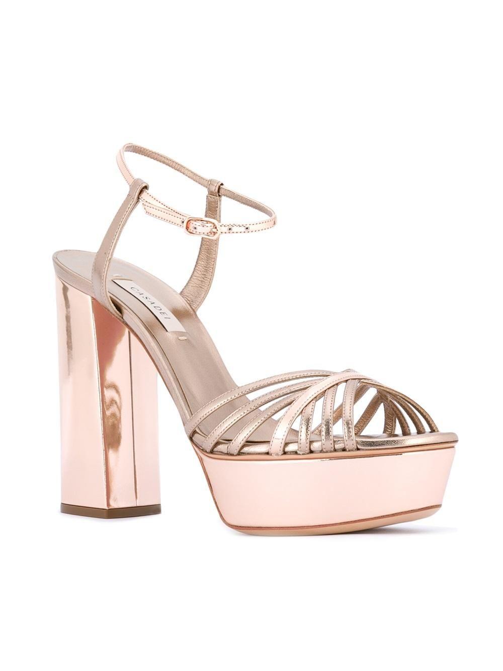 countdown package cheap price buy cheap big sale Casadei Metallic Platform Sandals discount fashionable outlet professional Cfhmgf535