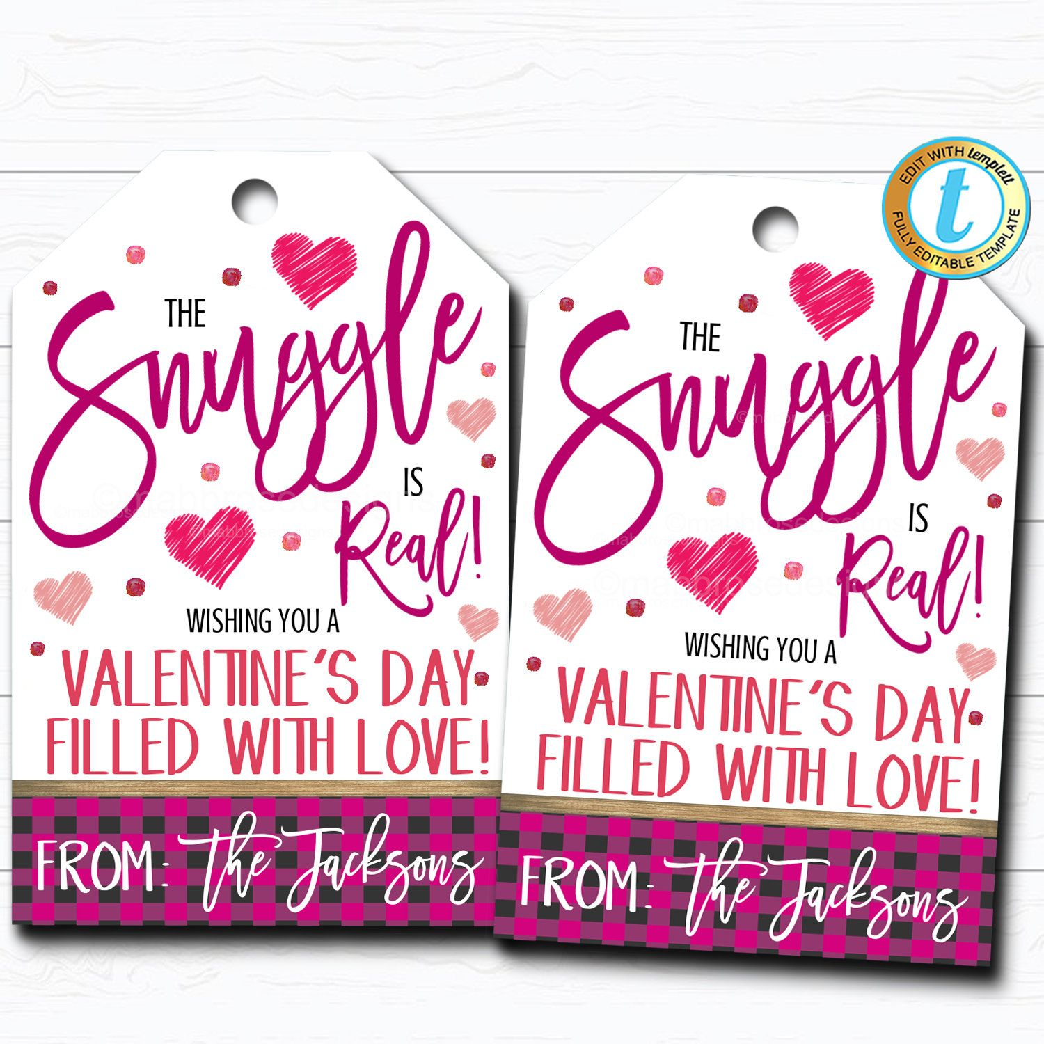 Valentine Gift Tags The Snuggle Is Real Teacher Staff Employee