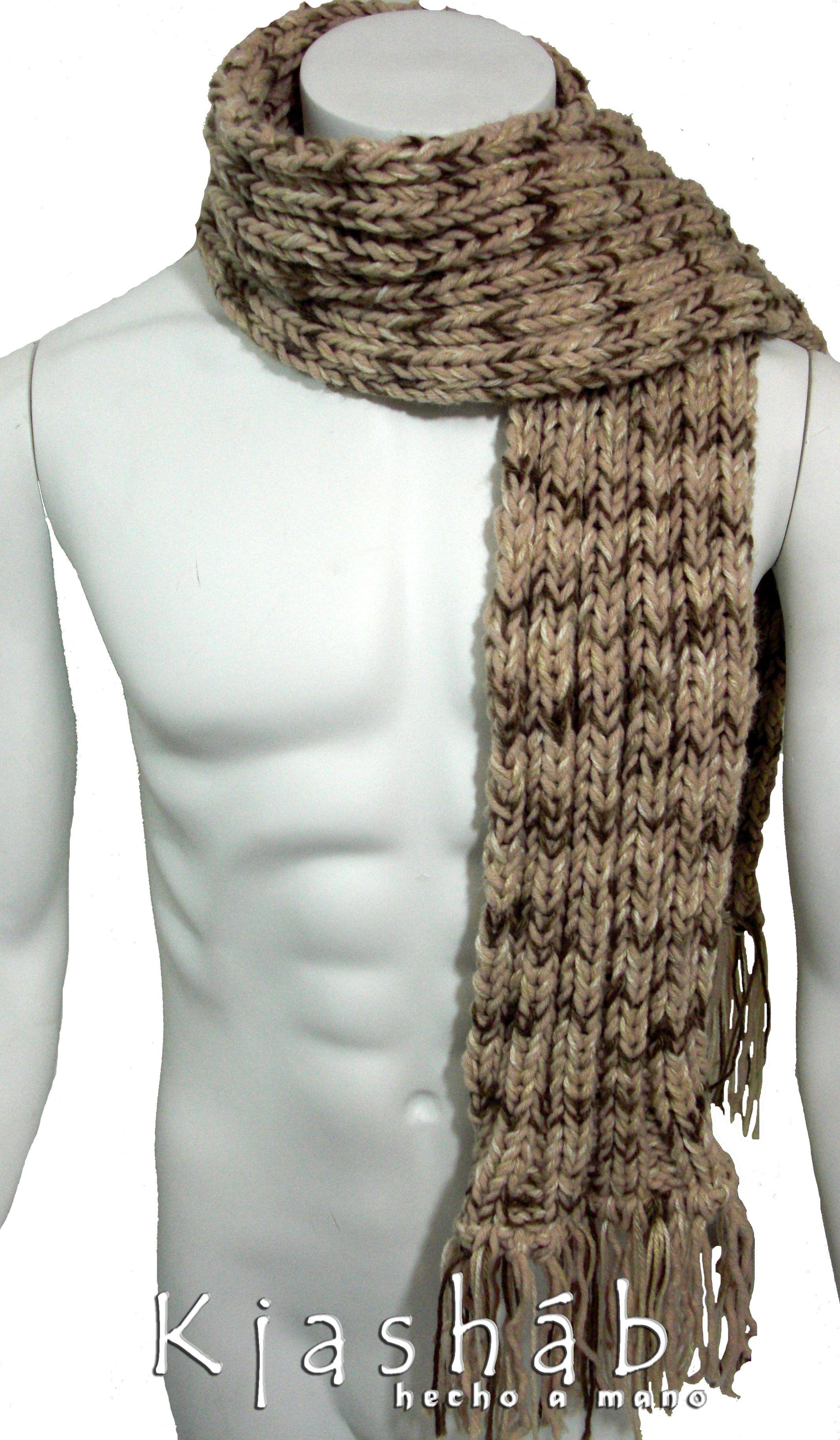 Bufanda de hombre, tejida en dos agujas. | Cosas para ponerse ...