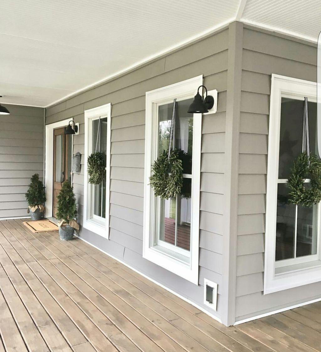 45 Rustic Farmhouse Exterior Designs Ideas   Rustic farmhouse, Porch ...