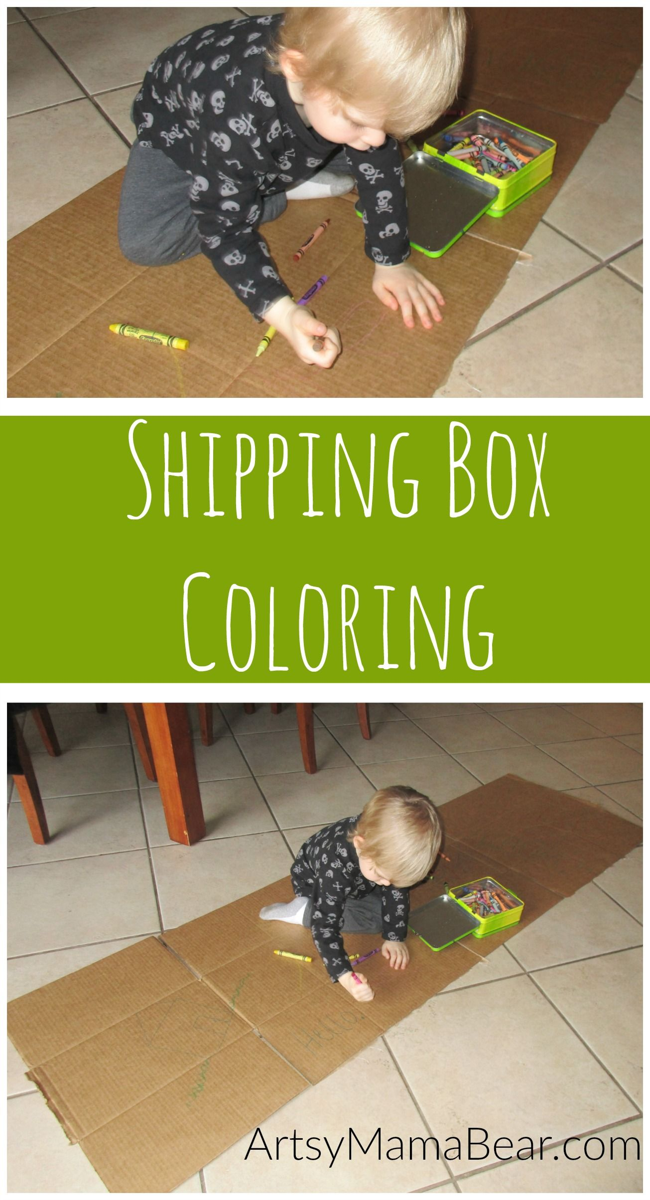 Shipping Box Coloring | Shipping boxes, Activities and Box