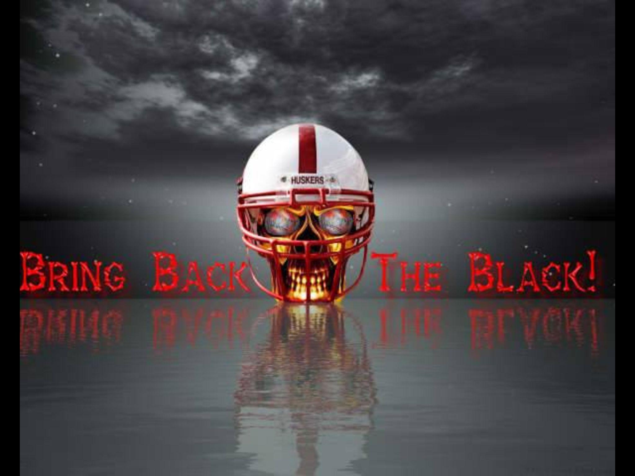 Blackshirts Throw The Bones Black Desktop Background Nebraska Nebraska Football
