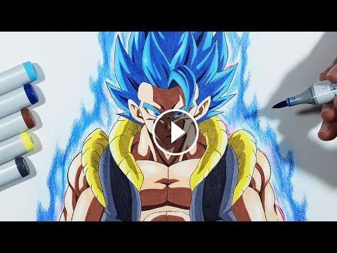 How To Draw Gogeta Super Saiyan Blue Step By Step Tutorial Goku